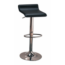 Contemporary Backless Seat Bar Stool, Black ,Set of 2