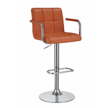 Swiveling Bar Stool, Orange