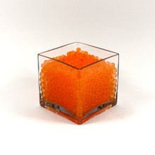 Orange Jelly Decor, Gel Water Beads - 1 Pound Bag