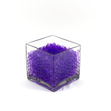 Purple Jelly Decor, Gel Water Beads - 1 Pound Bag