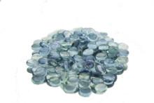 12 Bags, Aqua Flat Marbles - 2 lb/bag
