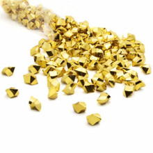 10 Bags, Acrylic Crystal Rock Fillers, Gold (approx 150 pcs per bag)