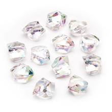 10 Bags, Acrylic Crystal Rock Fillers, Rainbow Iridescent (approx 150 pcs per bag)