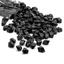 10 Bags, Acrylic Crystal Rock Fillers, Black (approx 150 pcs per bag)