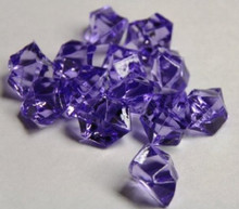 10 Bags, Acrylic Crystal Rock Fillers, Purple (approx 150 pcs per bag)