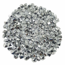 10 Bags, Acrylic Crystal Rock Fillers, Silver (approx 150 pcs per bag)