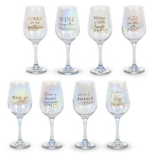 """Luster Wine Glass 8.80""""H - 8 Pieces"""