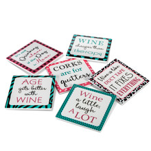 "2 Sets of 6 - Dolomite Wine Coasters 4.25""L - 12 Pieces"