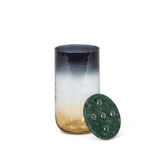 Ombre Glass Vase with Marble Frog Lid - 2 Pieces