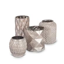 Set of 4 Champagne Glass Vases