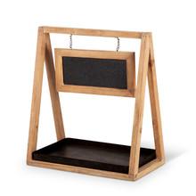 "Wood And Metal Shelf Decor 16"" - 2 Pieces"