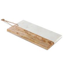 Mango Wood and White Marble Cutting Board
