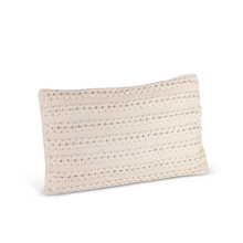 Ivory Cotton Woven Lumbar Pillow