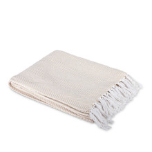 Ivory Cotton Heirloom Jacquard Woven Throw