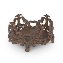 "8"" Acanthus Salad Plate Holder, Metal"
