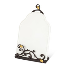 Gold Leaf Ceramic Message Board/Book Holder
