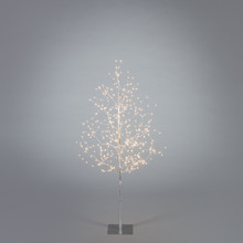 4ft Indoor/Outdoor Matte Silver Electric Lighted LED Tree - 4 Trees