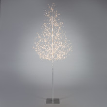 6ft Indoor/Outdoor Matte Silver Electric Lighted LED Tree - 4 Trees