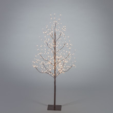 4ft Indoor/Outdoor Matte Brown Electric Lighted LED Tree - 4 Trees