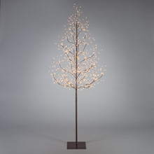 6ft Indoor/Outdoor Matte Brown Electric Lighted LED Tree - 4 Trees