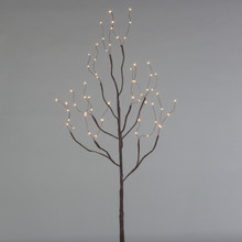 39 Inch Indoor/Outdoor Matte Brown Battery Lighted LED Branch with Timer - 6 Sets