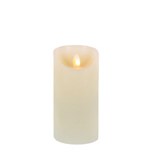 "6""H Wax LED Pillar Candle with Aurora Flame and Timer - 6 Pieces"