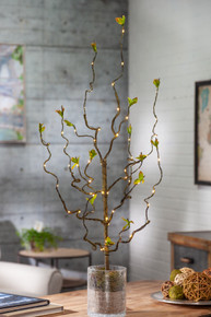 30 Inch Green Leaf LED Branch with Timer - 12 Pieces