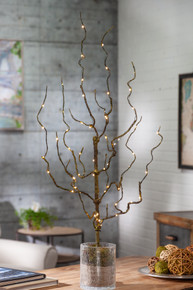 30 Inch Brown Lighted Branch with Timer - 12 Pieces
