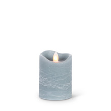 4 Inch Gray Aurora Candle with Timer - 6 Pieces