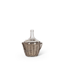 Small Large Glass Jar in Gray and White Basket - 4 Pieces