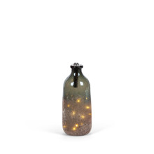 Small Handmade Glass Lighted Bottle with Gradual Sugar Finish - 2 Pieces