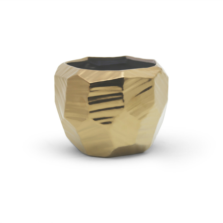 Extra Large Gold Geometric Pot