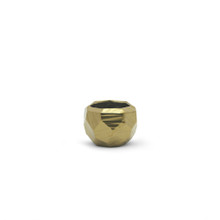 Small Gold Geometric Pot