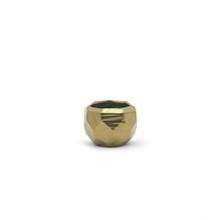 Small Gold Geometric Pot
