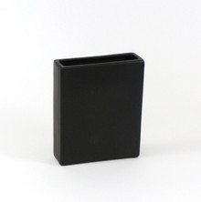 Black Tall Flat Rectangle
