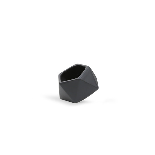 CGB1903BK Small Tilted Geometric Pot - Matte Black
