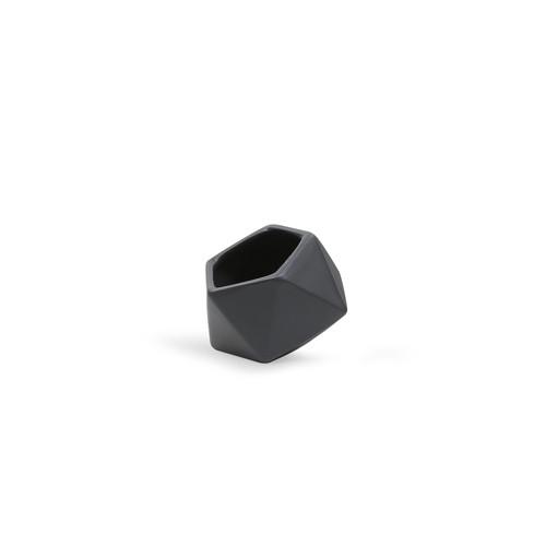 CGB1903BK Small Tilted Geometric Pot - Matte Black