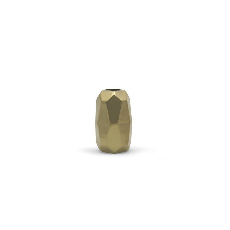 Small Gold Geometric Vase
