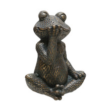 "16"" SMILING FROG FIGURINE, GOLD"