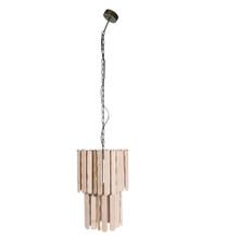 "FIR WOOD 65"" SWAG LAMP, NATURAL"