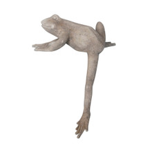 RESIN FROG WITH LEG DOWN