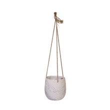 HANGING GRAY MARBLE PLANTER
