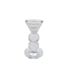 """GLASS 5"""" CANDLE HOLDER, CLEAR"""