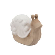 CERAMIC SNAIL W/ WHITE SHELL 10""