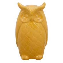 "10"" OWL DECOR, YELLOW"