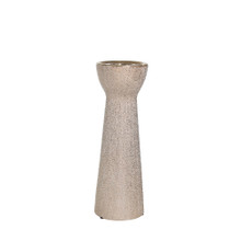 """CERAMIC 12"""" BEAD CANDLE HOLDER,CHAMPAGNE"""