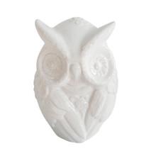 """CERAMIC 9"""" OWL FIGURINE, WHITE"""