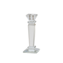 """GLASS 7"""" CANDLE HOLDER, CLEAR"""