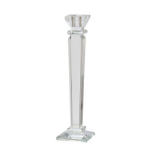 """GLASS 11"""" CANDLE HOLDER, CLEAR"""