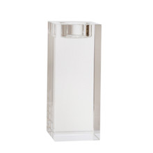 """GLASS 6"""" CANDLE HOLDER, CLEAR"""